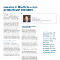 Investing in Health Sciences Breakthrough Therapies