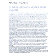 Market Flash: Global Growth Hopes Edge Higher