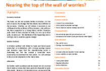 Nearing the top of the wall of worries?