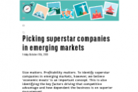 Picking superstar companies in emerging markets