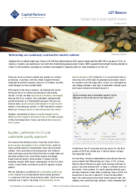 Reiterating our cautiously constructive market outlook
