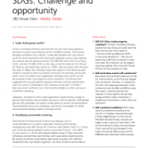SDGs: Challenge and opportunity