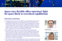 Space race: flexible office operators' fight for space likely to overshoot equilibrium