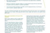 Spotlight on bank regulatory capital