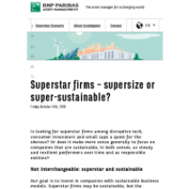 Superstar firms – supersize or super-sustainable?