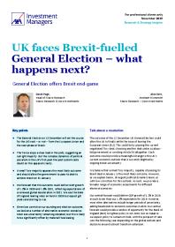 UK faces Brexit-fuelled General Election – what happens next?