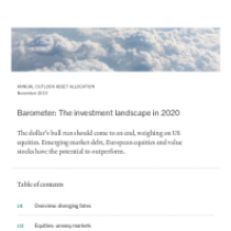 Barometer: The investment landscape in 2020
