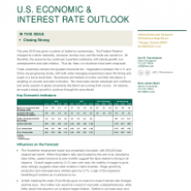 Closing strong u.s. Economic & interest rate outlook