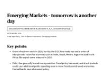Emerging Markets 2020 Outlook