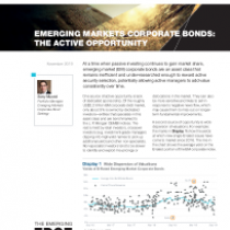Emerging Markets Corporate Bonds: The Active Opportunity