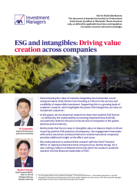 ESG and intangibles: Driving value creation across companies