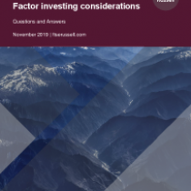Factor investing considerations