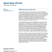 FOMC signals unchanged rates