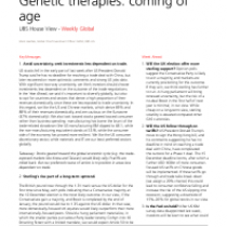 Genetic therapies: coming of age