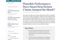 Plausible Performance: Have Smart Beta Return Claims Jumped the Shark?