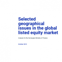 Selected geographical issues in the global listed equity market