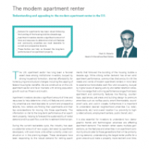 The modern apartment renter Understanding and appealing to the modern apartment renter in the U.S.