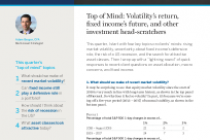 Top of Mind: Volatility's return, fixed income's future, and other investment head-scratchers