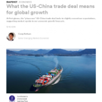 What the US-China trade deal means for global growth