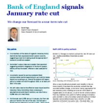 Bank of England signals January rate cut