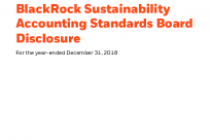 BlackRock Sustainability Accounting Standards Board Disclosure