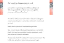 Coronavirus: the economic cost