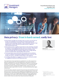Data privacy: Trust is hard earned, easily lost