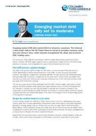 Emerging market debt rally set to moderate