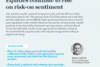 Equities continue to rise on risk-on sentiment