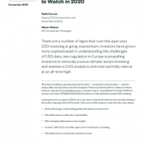 Five ESG Investing Trends to Watch in 2020