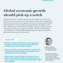 Global economic growth should pick up a notch