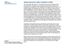 Global economy to take a breather in 2020
