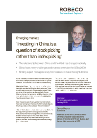 Investing in China is a question of stock picking rather than index picking