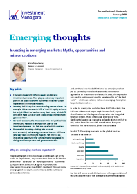 Investing in emerging markets: Myths, opportunities and misconceptions
