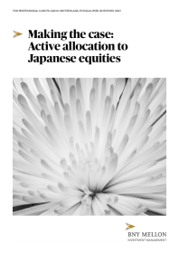 Making the case: Active allocation to Japanese equities