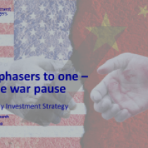 Set phasers to one –trade war pause