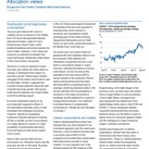 Stabilization amid heightened uncertainties