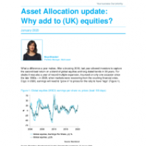 Why add to (UK) equities?