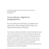 Corona-uitbraak: veiligheid als beleggingsthema