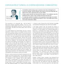 Coronavirus turmoil is overshadowing commodities