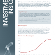 Emerging Market Equities – China in uncharted territory