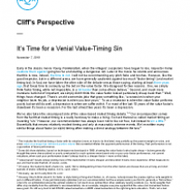 It's Time for a Venial Value-Timing Sin
