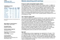 Markets absorbing profit warnings
