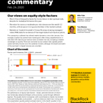 Our views on equity style factors