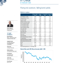 Rising risk aversion, falling bond yields