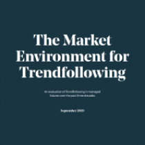 The Market Environment for Trendfollowing