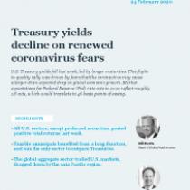Treasury yields decline on renewed coronavirus fears