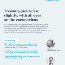 Treasury yields rise slightly, with all eyes on the coronavirus