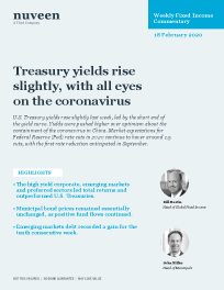 Treasury yields rise slightly, with all eyes on the coronavirus