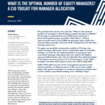 What is the Optimal Number of Equity Managers?